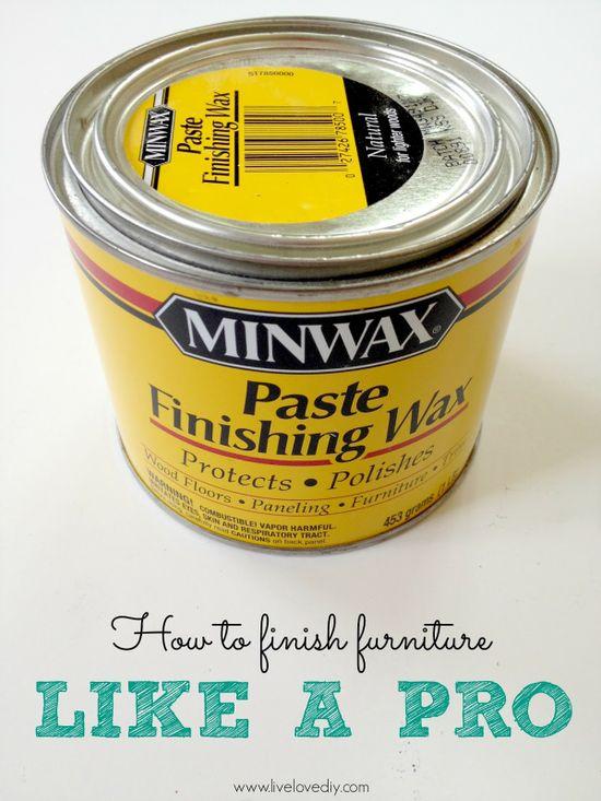 using finishing wax when painting furniture