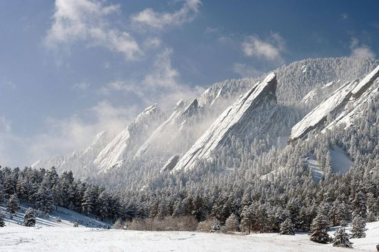 The Flatiron formation, Colorado