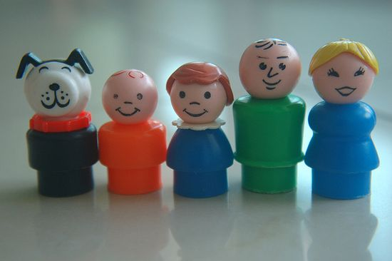 ....the old Fisher Price people and dog