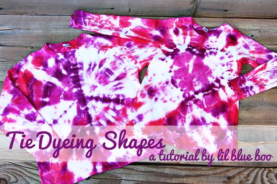 Tye Dye tutorial for peace sign & heart shapes...fun project with the kids!