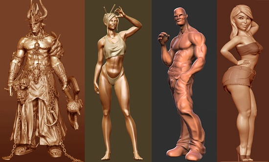 20 Beautiful 3D character Model designs for your inspiration
