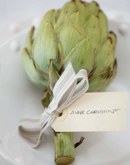 artichoke for a place card