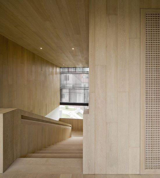 beautiful blonde wood: Cluny House by Neri & Hu Design and Research Office
