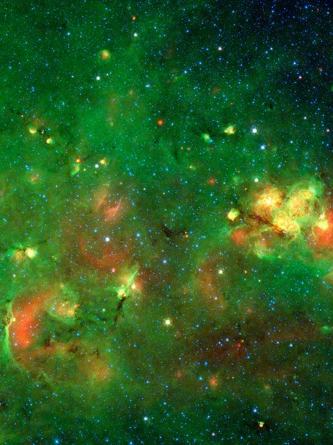 Spitzer Space Telescope image of the Milky Way
