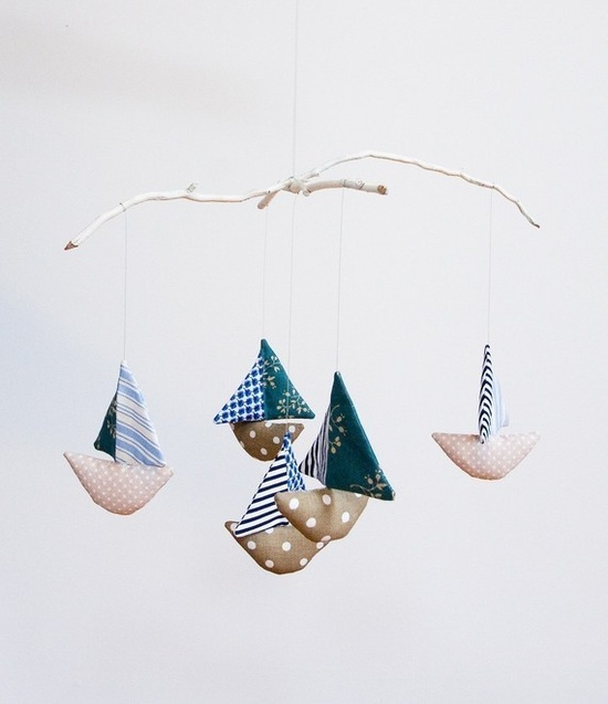 Baby Boat Mobile by made leinesargent on @etsy $55