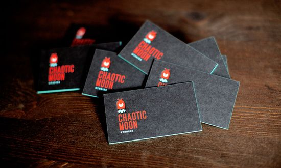 black + red + blue business cards