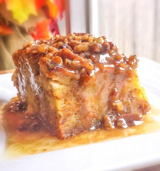 Pumpkin Praline Bread Pudding