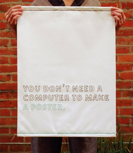 you don't need a computer to make a poster