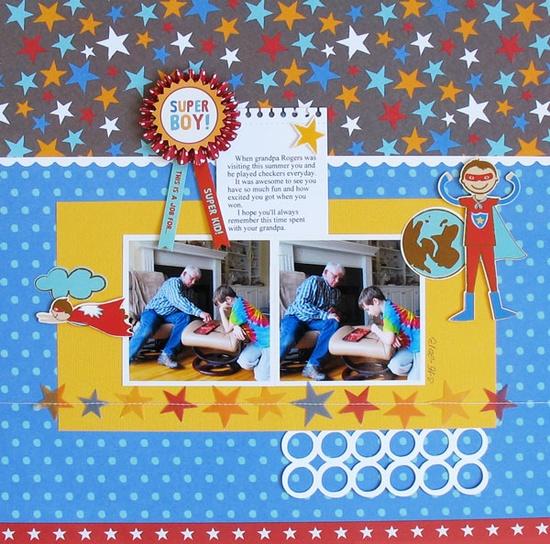 Super Boy - Pebbles - Scrapbook.com
