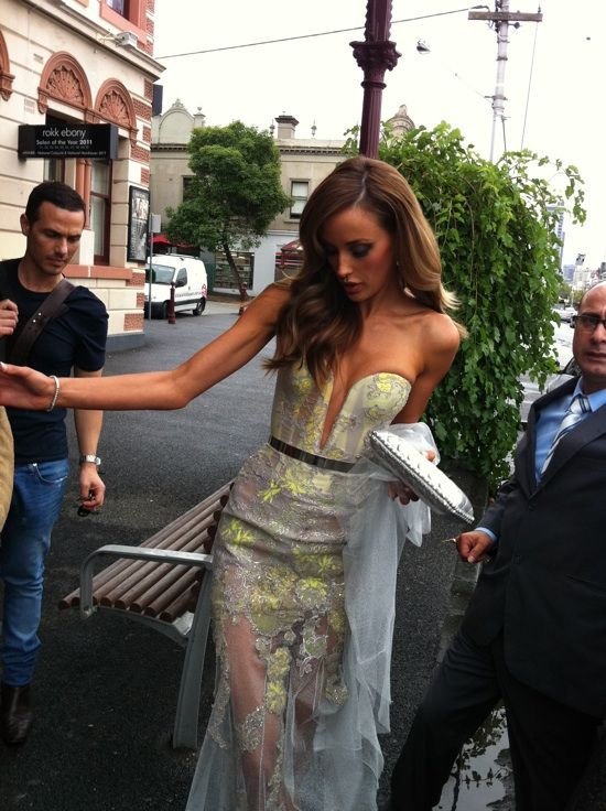 ? her dress.