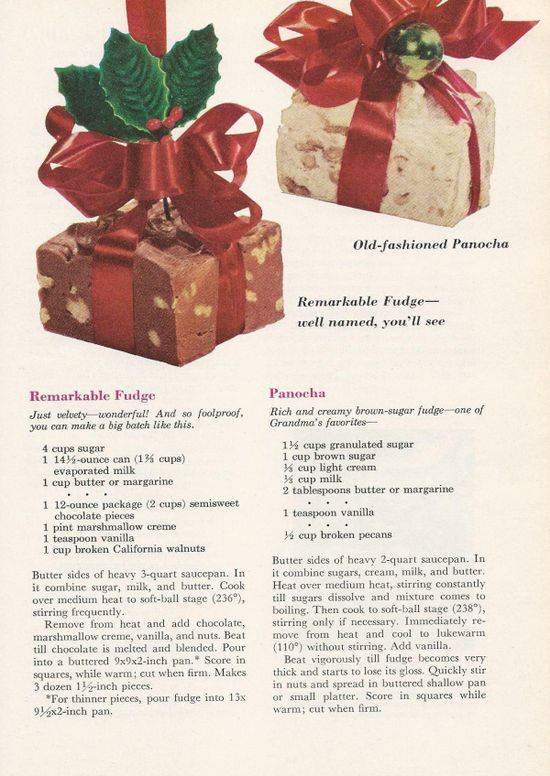 Vintage Christmas Candy Recipes