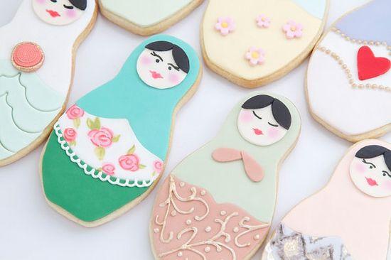 Babushka Cookies by bbsweetslove on Etsy, $50.00