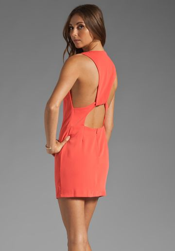BEC Palazzo Backless Dress in Tangerine at Revolve Clothing - Free Shipping!
