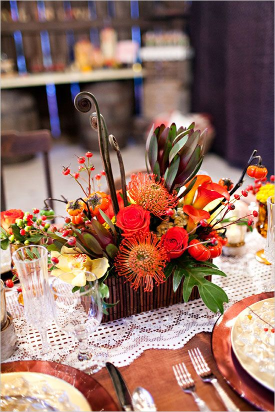 fall floral arrangement by Eastern Floral