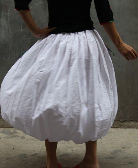 beautiful white skirt