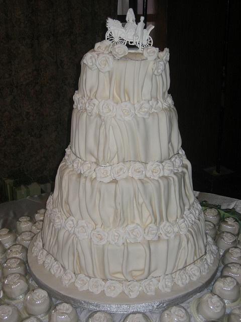white wedding cake by Divine Cakes Iloilo, via Flickr