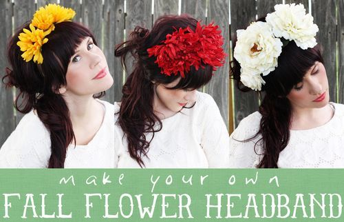 DIY Floral Headband for Day of the Dead costume.....