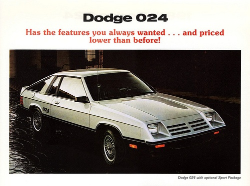 1981-1/2 Dodge 024 Sport Package. My first car