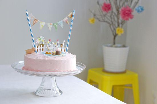 I made a cake.