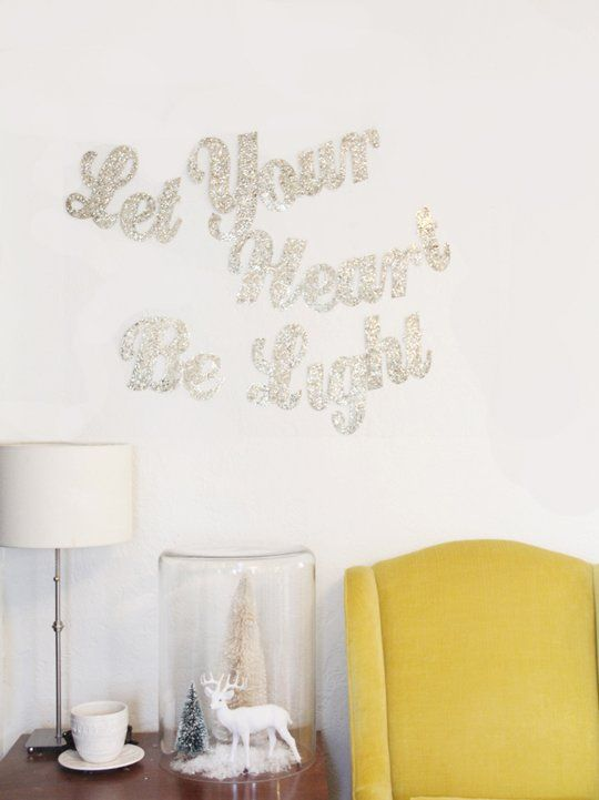 Easy, Cheap Holiday DIY Decorating Idea for Blank, Empty Wall Spaces