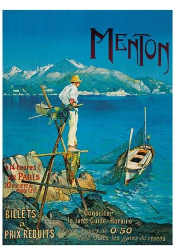 Menton #vintage #travel #poster #France