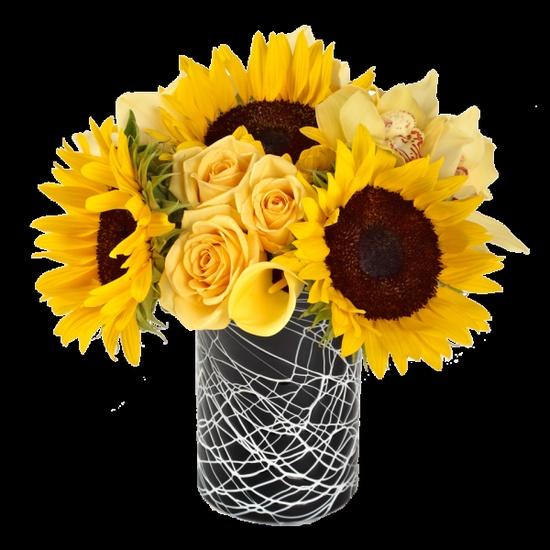 yellow flower arrangements - Google Search
