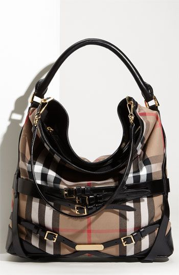 Burberry Check Print Hobo