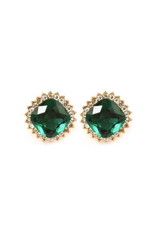 emerald colored earrings
