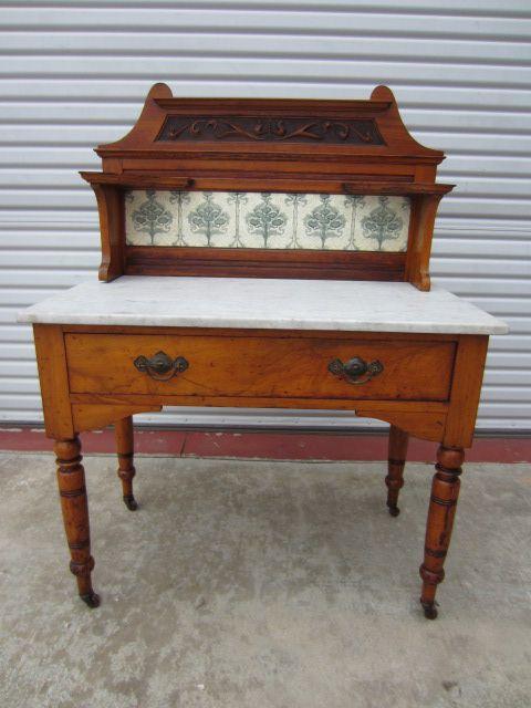 English Antique Washstand Vanity Dresser Antique Furniture
