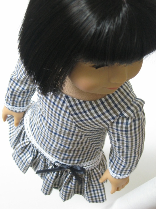 "Check  -- a new dress for 18"" dolls from Melody Valerie Couture"