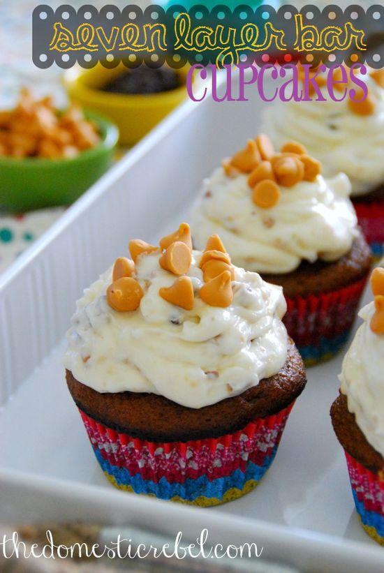 Seven Layer Bar Cupcakes
