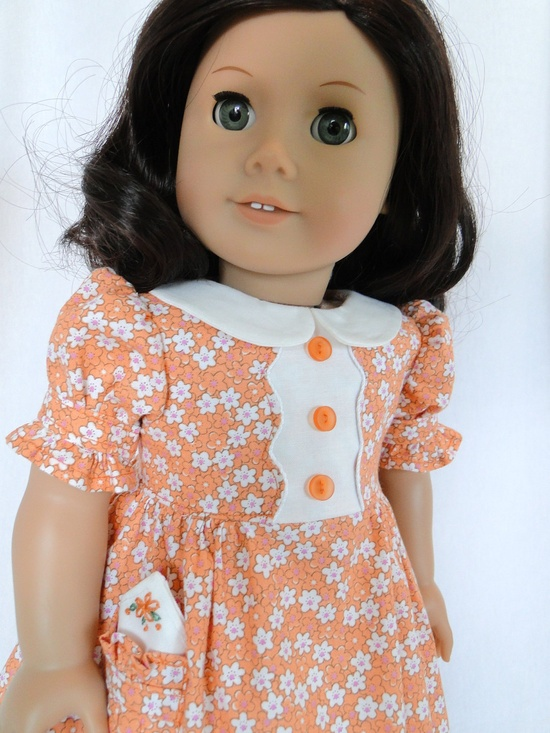 1930's inspired dress for American girl doll.