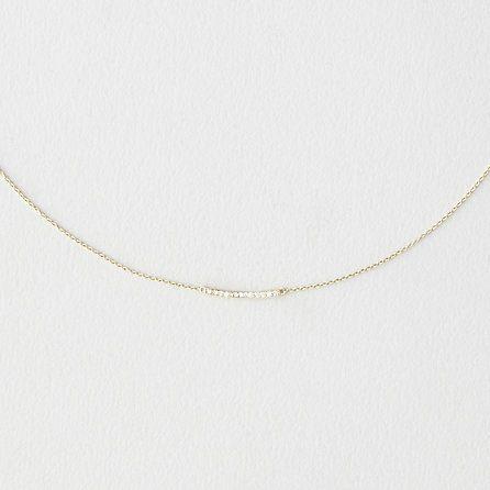Grace Lee Diamond Mini Bar Necklace