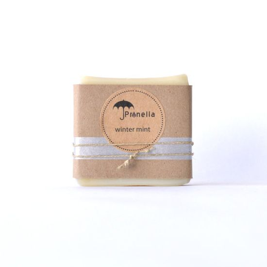 Winter Mint Handmade Soap  ::  5 oz. bar of vegan cold process soap made in Portland, Oregon by prunellasoap