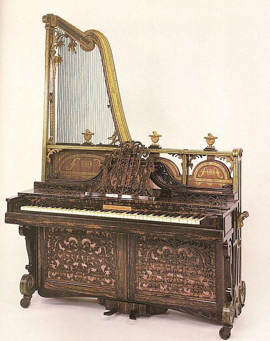 Upright Harp Piano