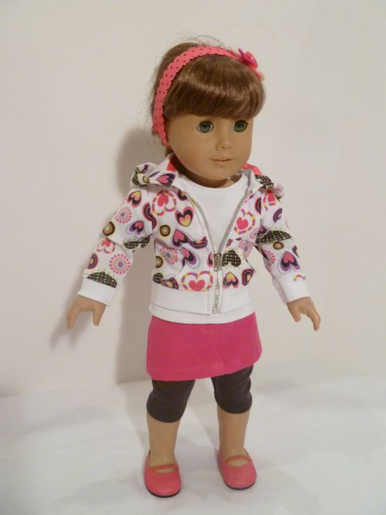 My friend, Diane, an infamous costume designer has started making American Girl Doll clothing.  She has amazing things!  Makes me want to get my own American Girl Doll!  American Girl doll 5 piece outfit with skirt by AccordingtoEmma, $30.00