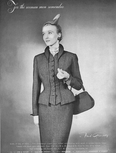 So classy, beautiful and figure flattering. #vintage #fashion #1950s #suit