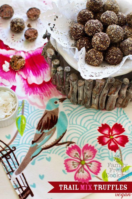 Skinny Dark Chocolate Trail Mix Truffles