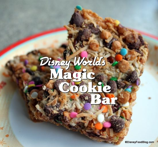These were amazing @ Disney. Can't wait to make them. Magic Cookie Bar from Disney World #Disney #Recipes