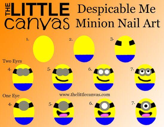 Minion Nail Art - how to