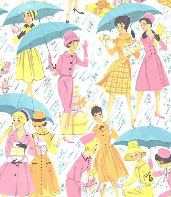 Vintage Shower wrapping paper