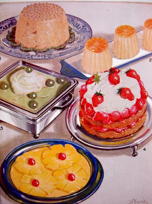 vintage food illustration