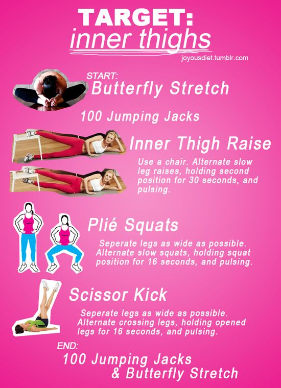 For that little bulge in your inner thigh. #workout