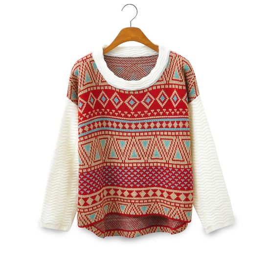 Vintage Style Tribe Pattern Sweater