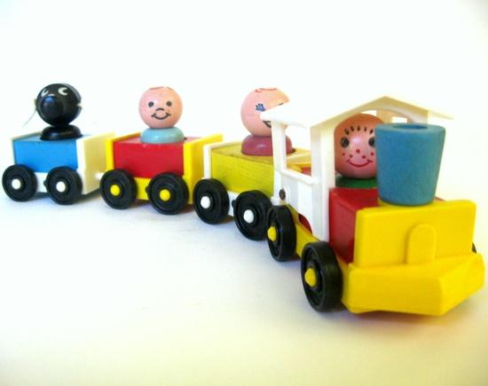 Fisher Price Choo-Choo, 1960's Little People Train