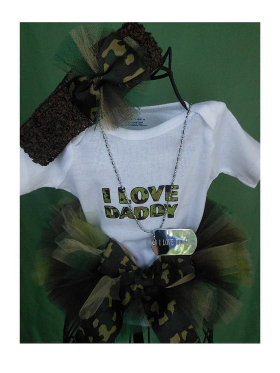 Adorable Camo/Military Baby Or Little Girls Tutu's by PailPals, $28.99