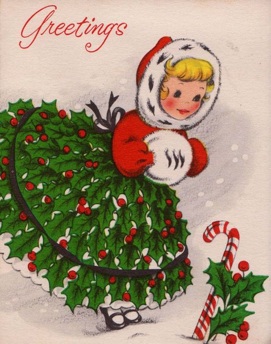 1950s Vintage Christmas Card