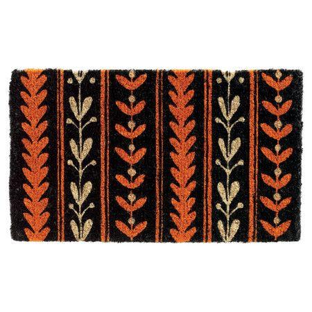 Folksy Leaf Garland Doormat