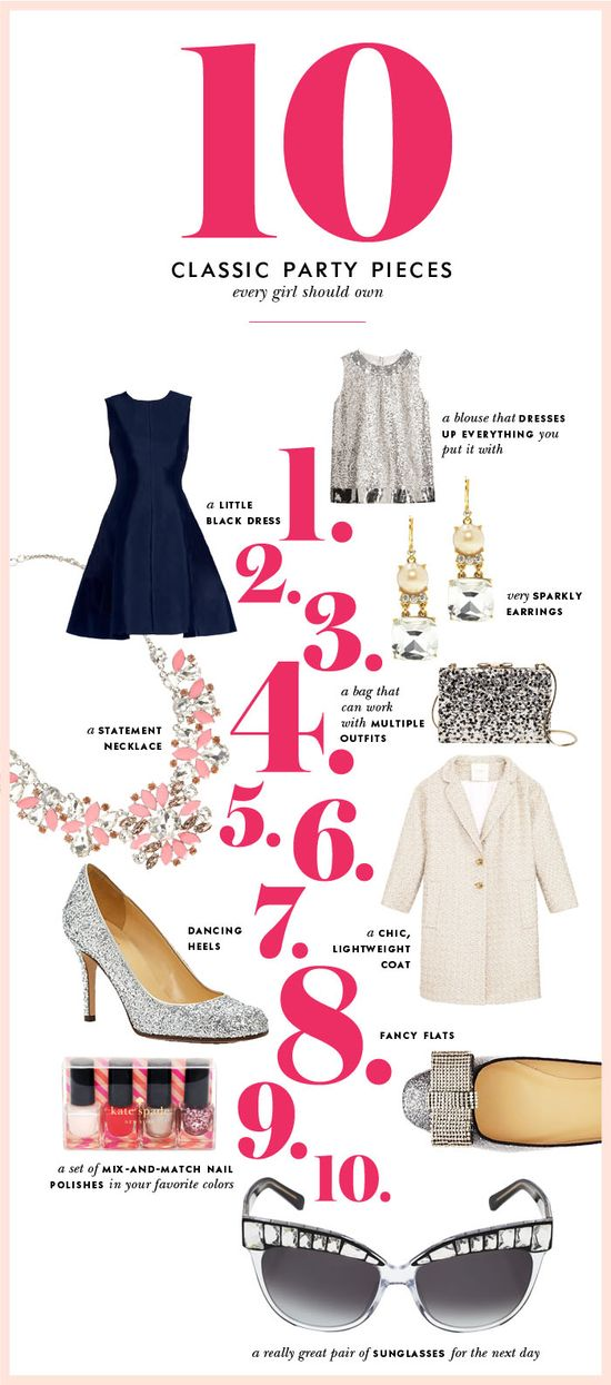 10 classic party pieces every girl should own