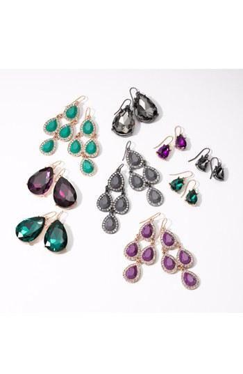 Shiny & fun kite chandelier earrings.